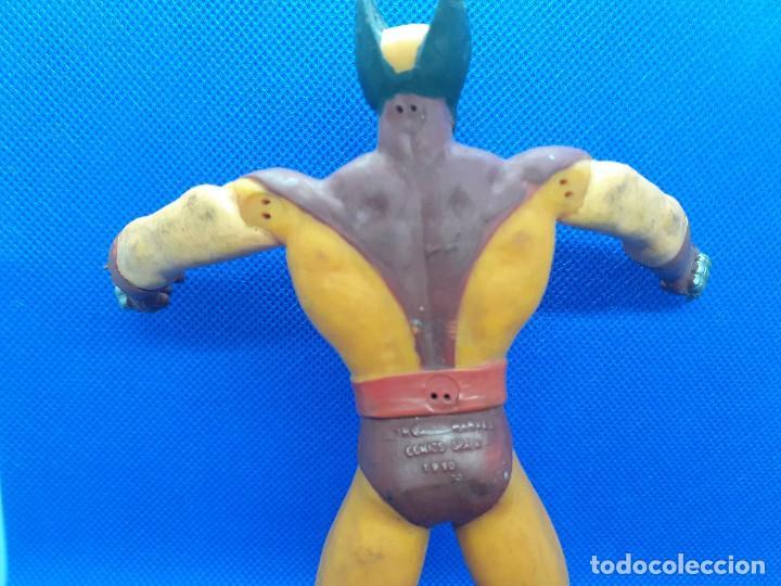 Figuras de Goma y PVC: Lote de 4 súper héroes Comics Spain. Superman, Lobezno, Spiderman y Capitán América. - Foto 8 - 206186637