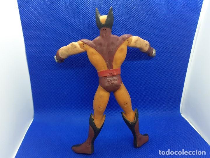 Figuras de Goma y PVC: Lote de 4 súper héroes Comics Spain. Superman, Lobezno, Spiderman y Capitán América. - Foto 9 - 206186637