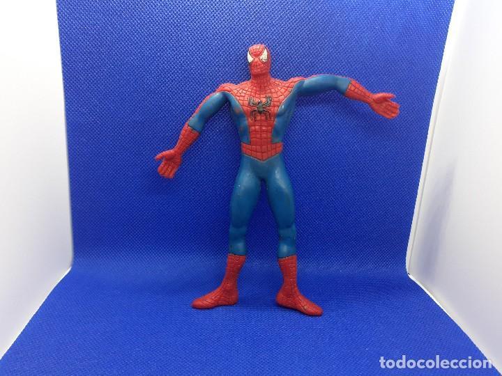 Figuras de Goma y PVC: Lote de 4 súper héroes Comics Spain. Superman, Lobezno, Spiderman y Capitán América. - Foto 11 - 206186637