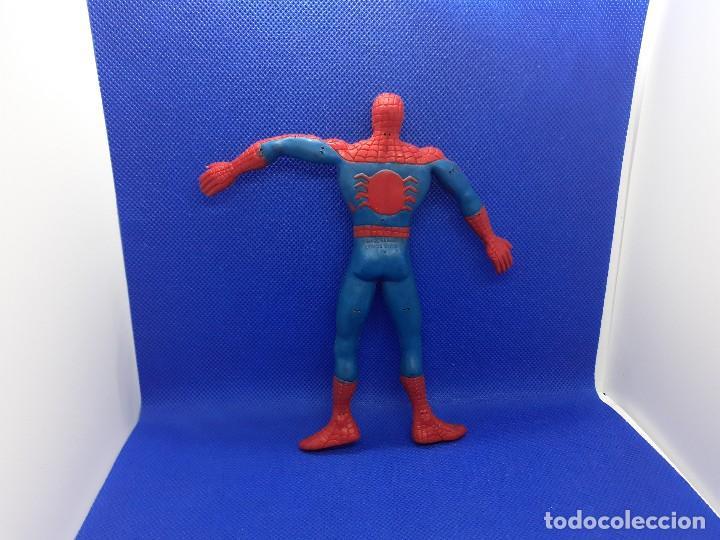 Figuras de Goma y PVC: Lote de 4 súper héroes Comics Spain. Superman, Lobezno, Spiderman y Capitán América. - Foto 13 - 206186637