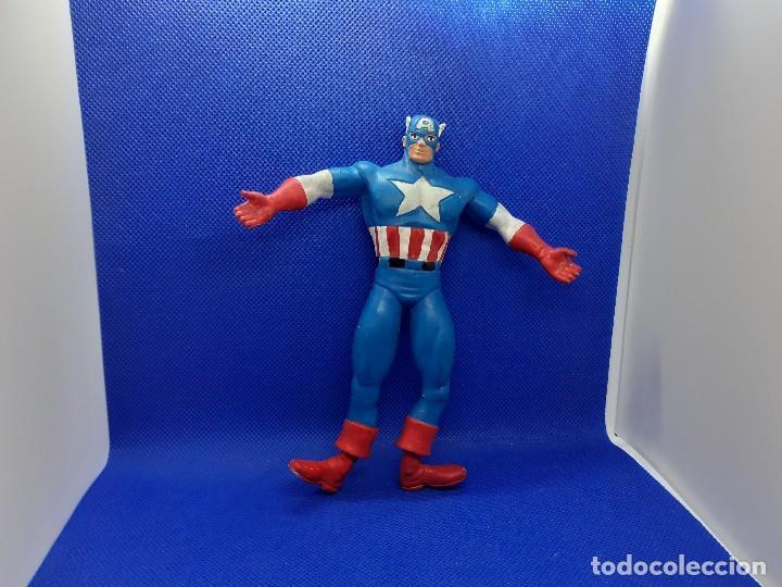 Figuras de Goma y PVC: Lote de 4 súper héroes Comics Spain. Superman, Lobezno, Spiderman y Capitán América. - Foto 14 - 206186637