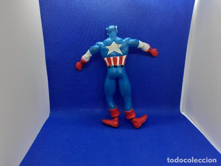 Figuras de Goma y PVC: Lote de 4 súper héroes Comics Spain. Superman, Lobezno, Spiderman y Capitán América. - Foto 16 - 206186637