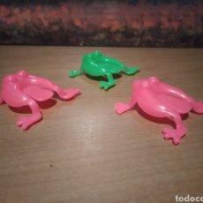 Figuras de Goma y PVC: RANAS SALTARINAS. Lote 206188951