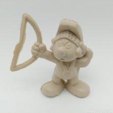 Figuras de Goma y PVC: MUY DIFÍCIL PITUFO ROMANO CON ARCO - SMURF ROMMER GNOME - BOOTLEG, RAREZA SIN PINTAR. Lote 206229691