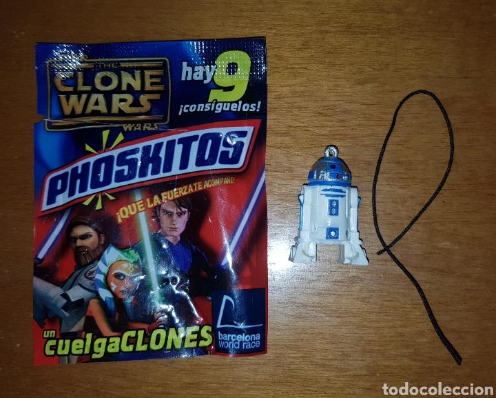 Figura pvc sobre sorpresa Phoskitos Star Wars R2D2 cuelga clones llavero colgante nuevo, usado segunda mano
