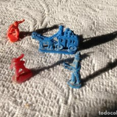 Figuras de Goma y PVC: LOTE DE 4 FIGURAS MONTAPLEX-SERGAN? VAQUEROS,INDIOS,DILIGENCIA.. Lote 206307776