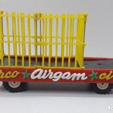 Figuras de Goma y PVC: REMOLQUE JAULA DEL CIRCO . REALIZADO POR AIRGAM . ORIGINAL AÑOS 50 / 60. Lote 206364115