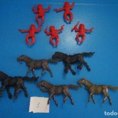 Figuras de Goma y PVC: LOTE DE 10 VAQUEROS Y CABALLOS DE PLASTICO DE KIOSKO DIFERENTES COLORES LOTE 1. Lote 206406780