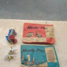 Figuras de Goma y PVC: PAREJA DE SOBRES MONTAPLEX - MOTO SCOOTER - CARABELA SANTA MARÍA - SIN ABRIR -. Lote 206409766