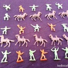 Figuras de Goma y PVC: VAQUEROS PLÁSTICO MINIOESTE DE COMANSI. Lote 206456708