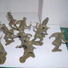 Figuras de Goma y PVC: 1/32 COMANSI PECH REAMSA JECSAN SOLDADOS SOVIETICOS 2 60 MM. PLASTIC SOLDIERS. Lote 206493251