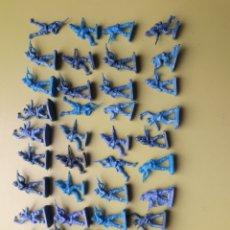 Figuras de Goma y PVC: 50 AFRICA KORPS MONTAPLEX SOLDADOS SOLDADITOS. Lote 206538090