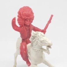 Figuras de Goma y PVC: HEROES DEL OESTE COMANSI REIGON JECSAN CABALLO INDIO VAQUERO. Lote 206587170