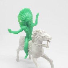 Figuras de Goma y PVC: HEROES DEL OESTE COMANSI REIGON JECSAN CABALLO INDIO VAQUERO. Lote 206587212