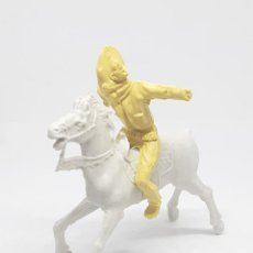 Figuras de Goma y PVC: HEROES DEL OESTE COMANSI REIGON JECSAN CABALLO INDIO VAQUERO. Lote 206587460