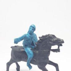 Figuras de Goma y PVC: HEROES DEL OESTE COMANSI REIGON JECSAN CABALLO INDIO VAQUERO. Lote 206587680