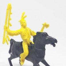Figuras de Goma y PVC: HEROES DEL OESTE COMANSI REIGON JECSAN INDIO CABALLO. Lote 206589325