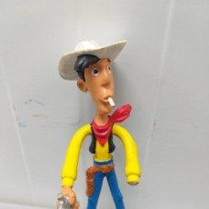 Figuras de Goma y PVC: FIGURA PVC GOMA FLEXIBLE LUCKY LUKE COMICS SPAIN VINTAGE AÑOS 80. Lote 206601146