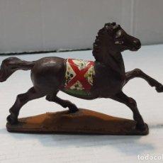 Figuras de Goma y PVC: FIGURA CABALLO INDIO DE GOMA GAMA. Lote 206827630