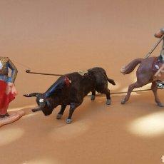 Figuras de Goma y PVC: MÓVIL FIGURAS PVC TORO TORERO Y REJONEADOR REAMSA. NO SON PECH. COMANSI, JECSAN, LAFREDO. Lote 206855611