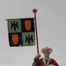 Figuras de Goma y PVC: GUERRERO MORO - SARRACENO CON ESTANDARTE . FIGURA REAMSA . SERIE EL CID CAMPEADOR . AÑOS 60. Lote 206957652
