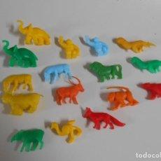 Figuras de Goma y PVC: LOTE 16 ANIMALES DUNKIN SELVA BIMBO PHOSKITOS ANIMALS FIGURE FIGURAS FIGURA. Lote 206989091
