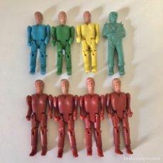 Figuras de Goma y PVC: MONTAPLEX, 7 FIGURAS MONTAMAN Y UNA FIGURA DE PARACAIDISTA. Lote 206990471