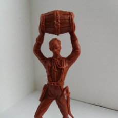 Figuras de Goma y PVC: SOLDADO CON BARRIL. SERIE GRANDE. COMANSI. AÑOS 60/70.. Lote 207064921