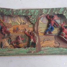 Figuras de Goma y PVC: CONJUNTO PIELES ROJAS AÑOS 50. PECH. Lote 207085786