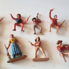 Figuras de Goma y PVC: LOTE 9 FIGURAS EL GRAN CHAPARRAL , REALIZADA POR COMANSI . AÑOS 60. Lote 207126692