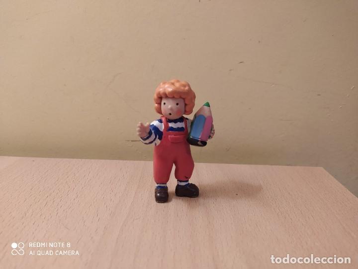 FIGURA TEO CON LAPIZ, VIOLETA DENOU COMICS SPAIN 1988 (Juguetes - Figuras de Goma y Pvc - Comics Spain)