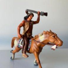 Figuras de Goma y PVC: FIGURA INDIO A CABALLO DE PVC BULLY. Lote 207213233