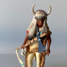 Figuras de Goma y PVC: FIGURA INDIO DE PVC BULLY. Lote 207213540
