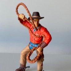 Figuras de Goma y PVC: FIGURA VAQUERO DE PVC BULLY. Lote 207214327