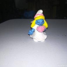 Figuras de Goma y PVC: PITUFOS SCHLEICH FIGURA DE PVC PITUFINA NOVIA SMURFS ENRLAG. Lote 207216815