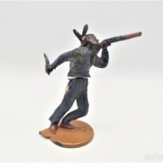 Figuras de Goma y PVC: ANTIGUA FIGURA DEL OESTE EN GOMA . GAMA. SERIE INDIOS Y VAQUEROS.. Lote 207239551