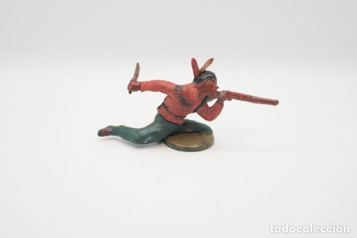 Figuras de Goma y PVC: Antigua Figura del Oeste en Goma . Gama. Serie Indios y Vaqueros. - Foto 3 - 207239581
