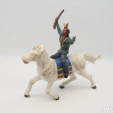 Figuras de Goma y PVC: ANTIGUAS FIGURAS DEL OESTE EN GOMA . GAMA. SERIE INDIOS Y VAQUEROS.. Lote 207262467