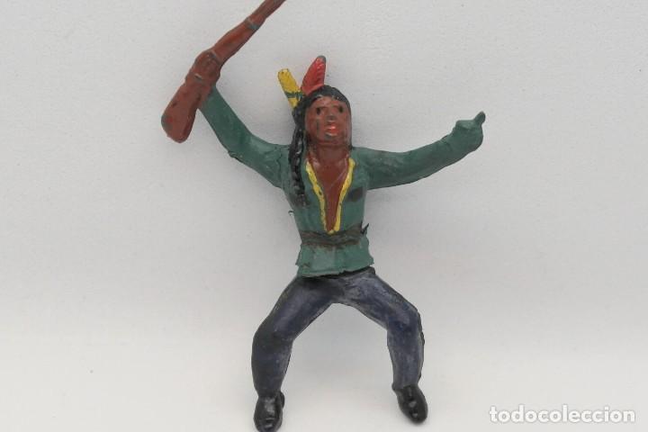 Figuras de Goma y PVC: Antiguas Figuras del Oeste en Goma . Gama. Serie Indios y Vaqueros. - Foto 2 - 207262467