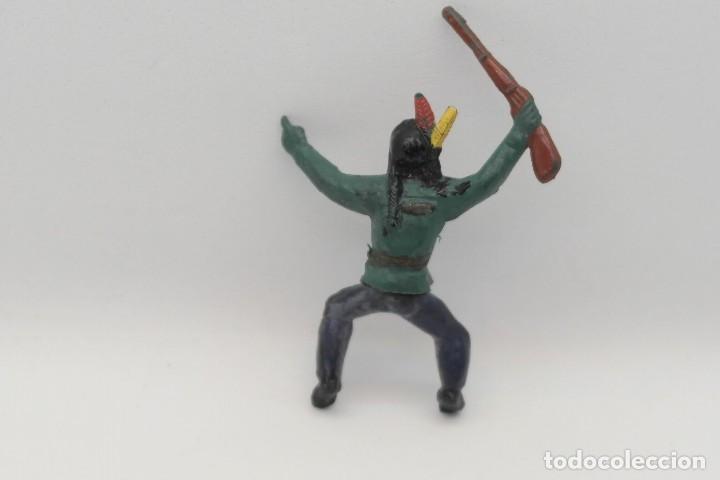 Figuras de Goma y PVC: Antiguas Figuras del Oeste en Goma . Gama. Serie Indios y Vaqueros. - Foto 6 - 207262467