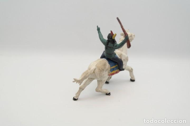 Figuras de Goma y PVC: Antiguas Figuras del Oeste en Goma . Gama. Serie Indios y Vaqueros. - Foto 7 - 207262467