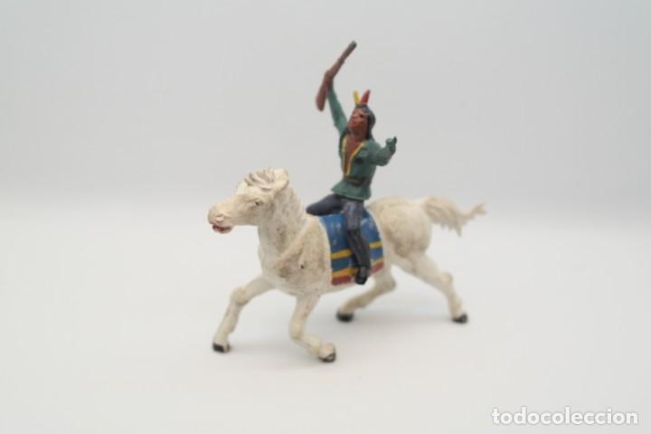 Figuras de Goma y PVC: Antiguas Figuras del Oeste en Goma . Gama. Serie Indios y Vaqueros. - Foto 8 - 207262467