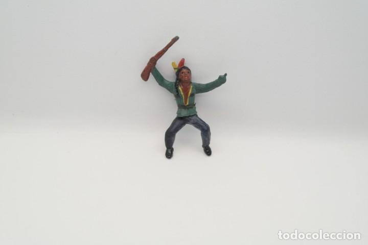 Figuras de Goma y PVC: Antiguas Figuras del Oeste en Goma . Gama. Serie Indios y Vaqueros. - Foto 9 - 207262467