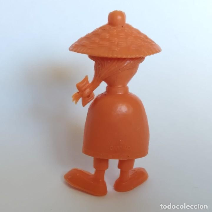 Figuras de Goma y PVC: Chino de la lavandería de la serie Lucky Luke, figura Dunkin - Tito con marca de la época Dargaud - Foto 2 - 207276920