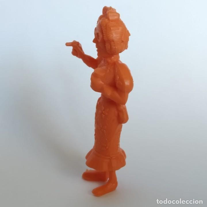 Figuras de Goma y PVC: Secretaria del Jefe de prisión serie Lucky Luke, figura Dunkin - Tito con marca de la época Dargaud - Foto 2 - 207279672