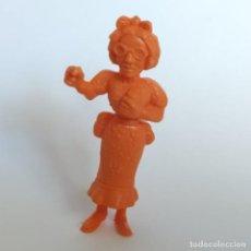 Figuras de Goma y PVC: SECRETARIA DEL JEFE DE PRISIÓN SERIE LUCKY LUKE, FIGURA DUNKIN - TITO CON MARCA DE LA ÉPOCA DARGAUD. Lote 207279672