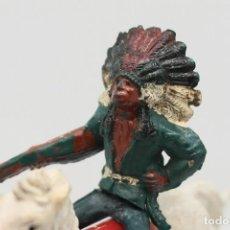 Figuras de Goma y PVC: ANTIGUAS FIGURAS DEL OESTE EN GOMA . GAMA. SERIE INDIOS Y VAQUEROS.. Lote 207337492