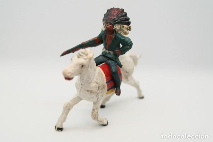 Figuras de Goma y PVC: Antiguas Figuras del Oeste en Goma . Gama. Serie Indios y Vaqueros. - Foto 2 - 207337492