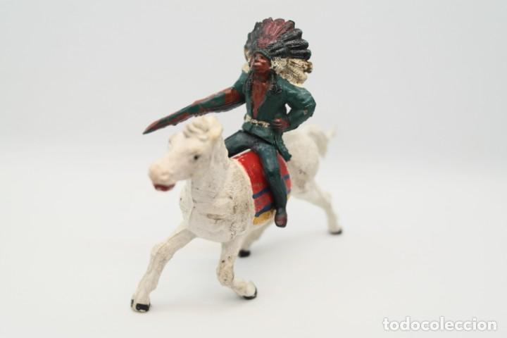 Figuras de Goma y PVC: Antiguas Figuras del Oeste en Goma . Gama. Serie Indios y Vaqueros. - Foto 5 - 207337492