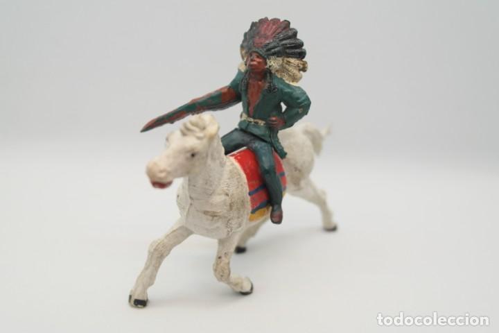 Figuras de Goma y PVC: Antiguas Figuras del Oeste en Goma . Gama. Serie Indios y Vaqueros. - Foto 6 - 207337492